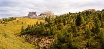 Dolomites, cima del passo. Falzarego Stock Images