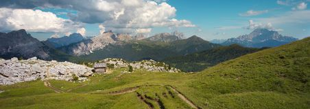 Dolomites with Civetta peak on the right side Royalty Free Stock Images