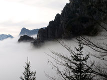 Dolomites cloudcover Royalty Free Stock Photo