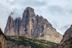 The Dolomites in the clouds Stock Photo