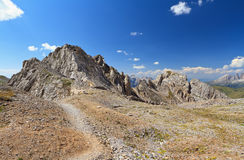 Dolomites - Costabella ridge Royalty Free Stock Photos