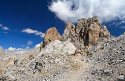 Dolomites - Costabella rock Stock Photos