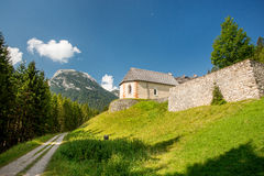 Dolomites cycle path Royalty Free Stock Photo