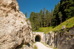 Dolomites cycle path Royalty Free Stock Images