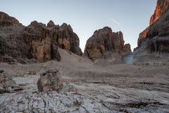 Dolomites de Brenta na luz do nascer do sol, It?lia, Europa imagem de stock