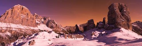 Dolomites de Cinque Torri Italy Fotografia de Stock Royalty Free