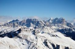 Dolomites de l'hiver Photos libres de droits