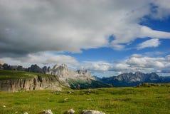 Dolomites de parc naturel Sciliar-Rosengarten Photos stock