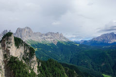 Dolomites de parc naturel Sciliar-Rosengarten Images libres de droits