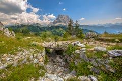 Dolomites de passerelle Images stock