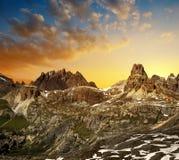 Dolomites de Sexten, Italie Image libre de droits