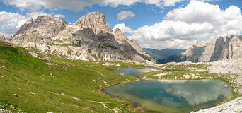 Dolomites de Sexten ; Vallée d'Altensteiner Photo stock