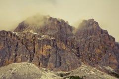 Dolomites do inverno fotografia de stock royalty free