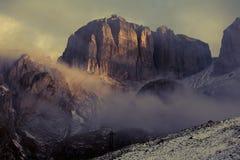 Dolomites do inverno foto de stock royalty free