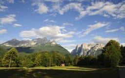 Dolomites (Dolomiti): Agner e Pale di San Lucano Royalty Free Stock Images
