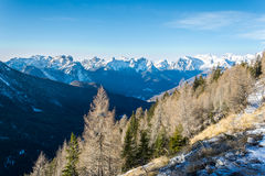 Dolomites during early winter Stock Photography