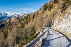 Dolomites during early winter Royalty Free Stock Photography