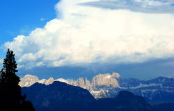 Dolomites. Evening Sun setting on Italy's Dolomites taken from Renon Stock Images