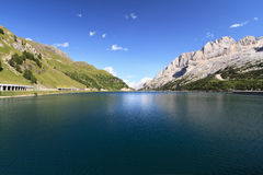 Dolomites - Fedaia lake Royalty Free Stock Photos
