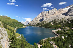Dolomites - Fedaia lake and pass Royalty Free Stock Image