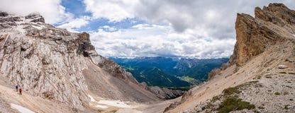 Dolomites - Forcella de Medesc Scharte Royaltyfri Foto