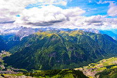 Dolomites, grupo de Marmolada Fotografia de Stock