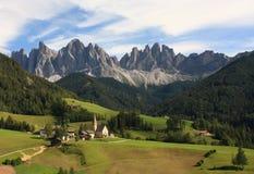 Dolomites: Grupo de Odle Imagem de Stock