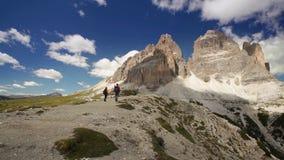 Dolomites hiker stock video footage