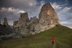 Dolomites hiker Stock Photography