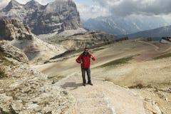 Dolomites hiker Royalty Free Stock Photos