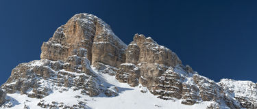Dolomites huge panorama view in winter snow time. For Printing landscape stock photos