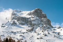 Dolomites huge panorama view in winter time Stock Photography