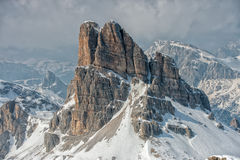 Dolomites huge panorama view in winter time Stock Images