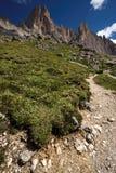 Dolomites i sommar Arkivbilder