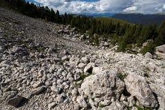 Dolomites i sommar Arkivbild
