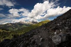 Dolomites i sommar Royaltyfria Bilder