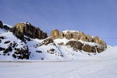 Dolomites i vinter Arkivbilder