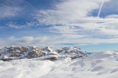 Dolomites i vinter Royaltyfria Bilder