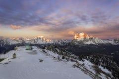 Dolomites i vinter Fotografering för Bildbyråer