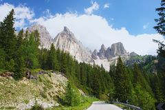 Dolomites, Italian Alps. Alpine Tre Croci pass in the Dolomites, Italian Alps Stock Photo