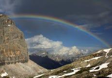 Dolomites italianas - através do ferrata Tomaselli foto de stock royalty free