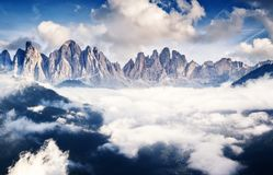 Dolomites italiennes images stock
