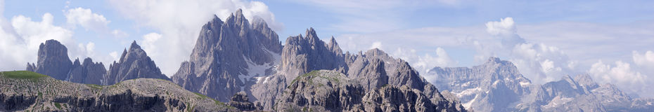 Dolomites italiennes Photo stock