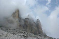 Dolomites italiennes, CIME de Tre Photographie stock