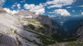 The Dolomites, Italy. Dolomites Alps in Italy. Timelapse stock footage