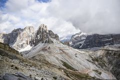 Dolomites italy, landscape of mountains Royalty Free Stock Photos