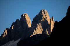 Dolomites, Italy, mountains between the regions of Veneto and Alto Adige royalty free stock photography