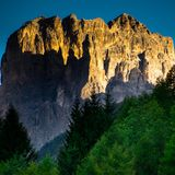 Dolomites, Italy, mountains between the regions of Veneto and Alto Adige stock photo