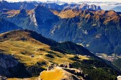 Dolomites Italy in Passo Pordoi royalty free stock photos