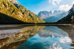 Dolomites Lago di Landro Royalty Free Stock Images